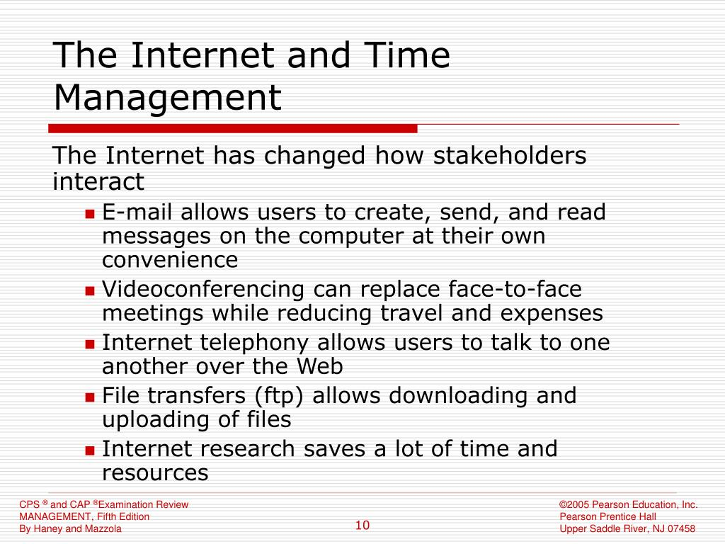 The Internet and Time Management