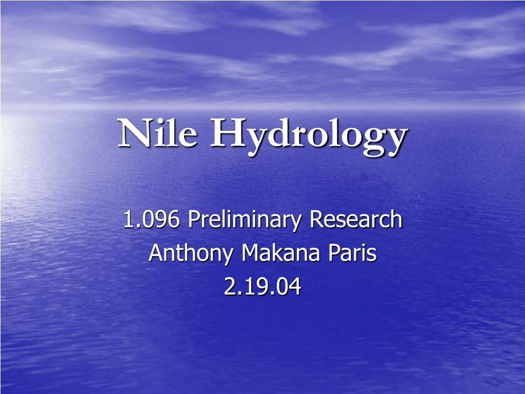 Nile Hydrology