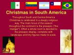 christmas in south america