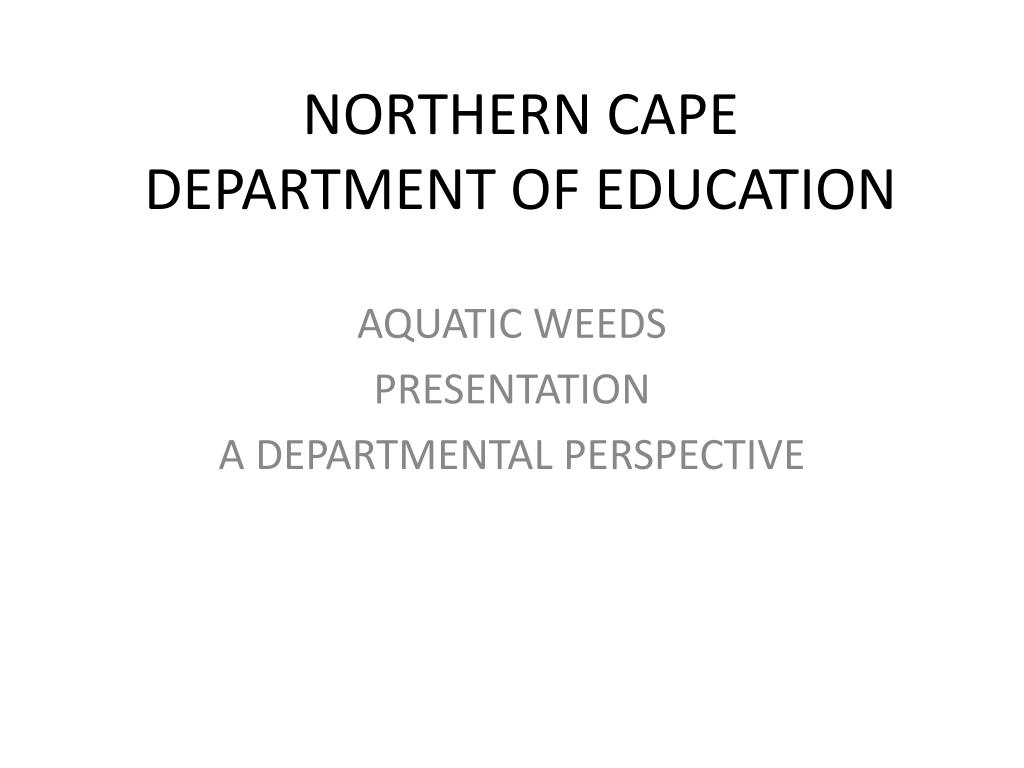 northern cape department of education l.