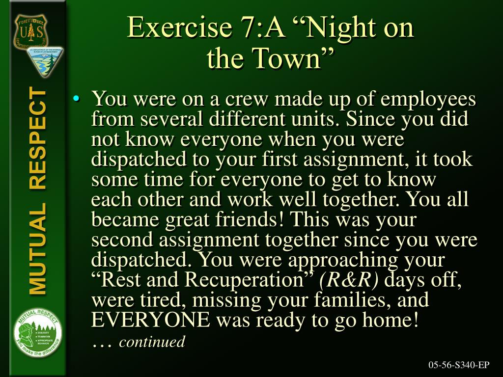 """Exercise 7:A """"Night on"""