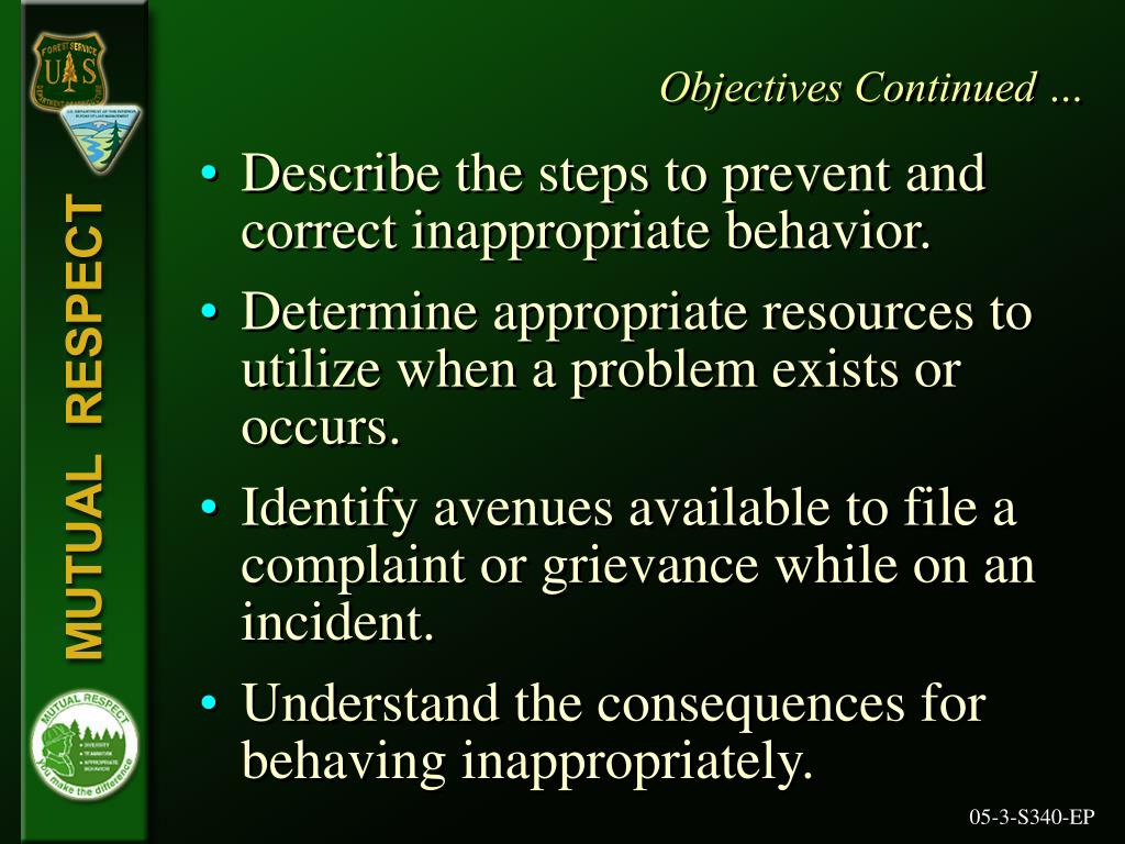 Objectives Continued …