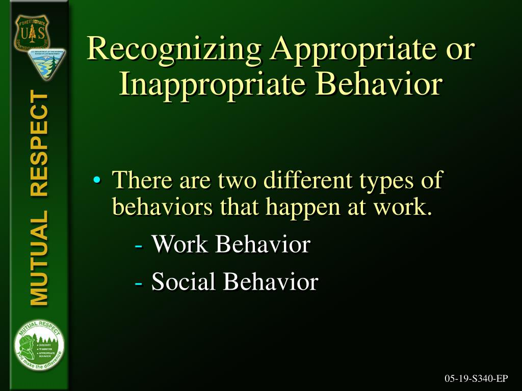 Recognizing Appropriate or