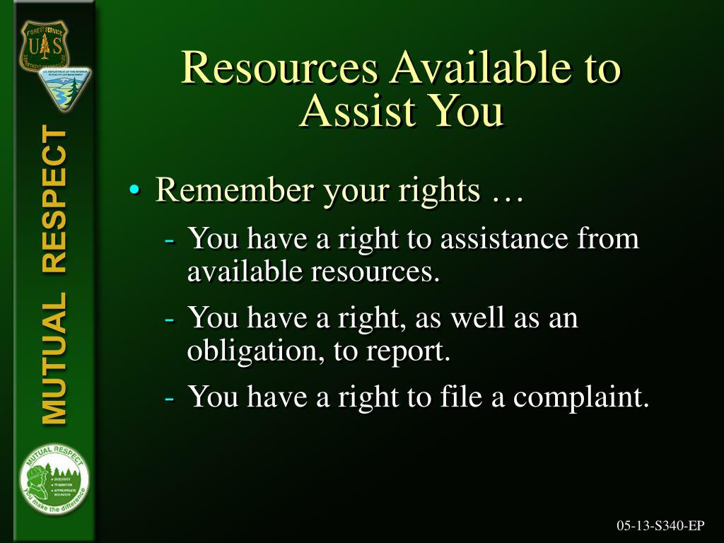Resources Available to
