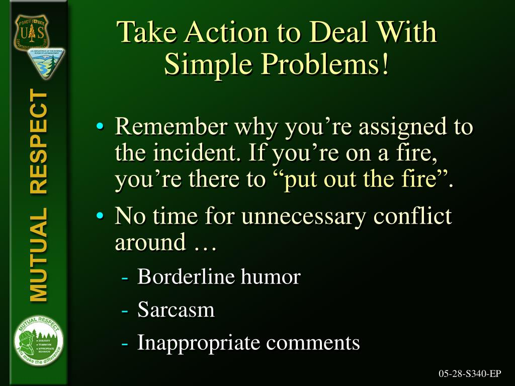 Take Action to Deal With Simple Problems!
