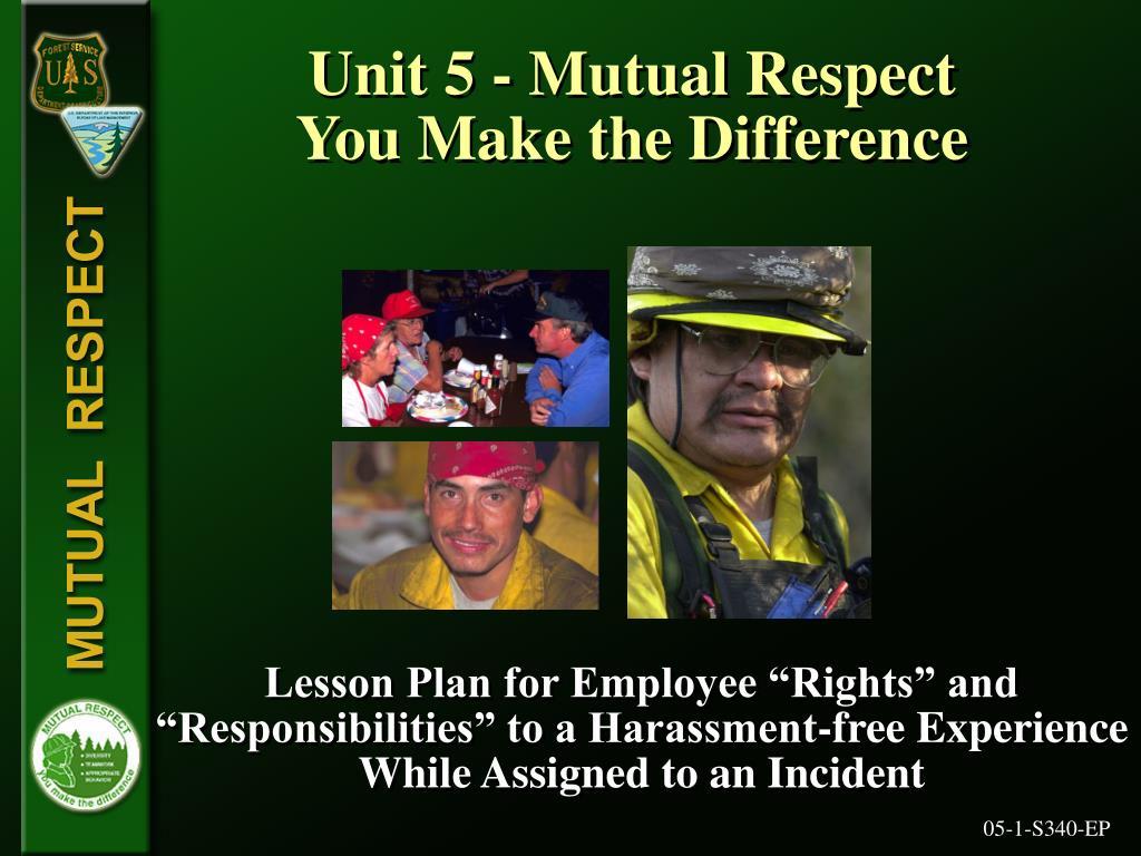 Unit 5 - Mutual Respect
