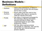 business models definitions