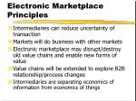 electronic marketplace principles