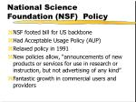 national science foundation nsf policy