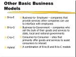 other basic business models