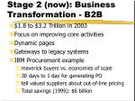 stage 2 now business transformation b2b