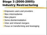 stage 3 2000 2005 industry restructuring
