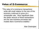 value of e commerce