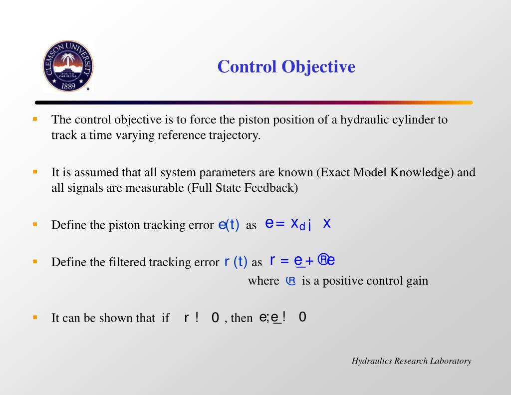 Control Objective