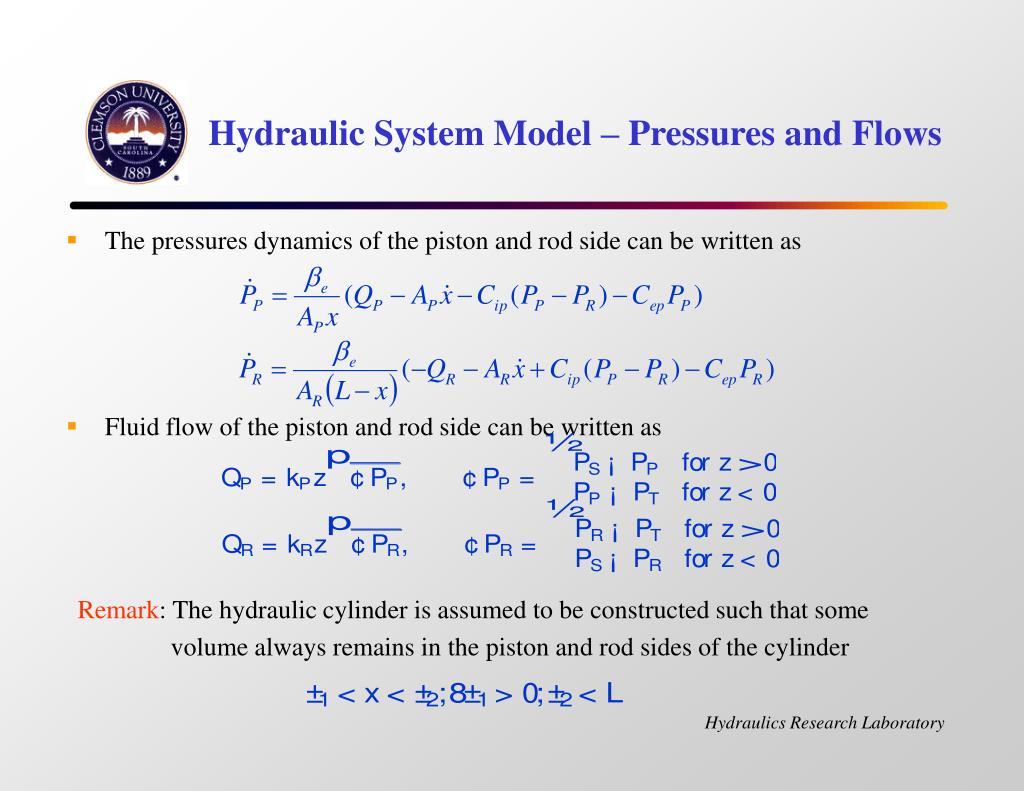 Hydraulic System Model – Pressures and Flows