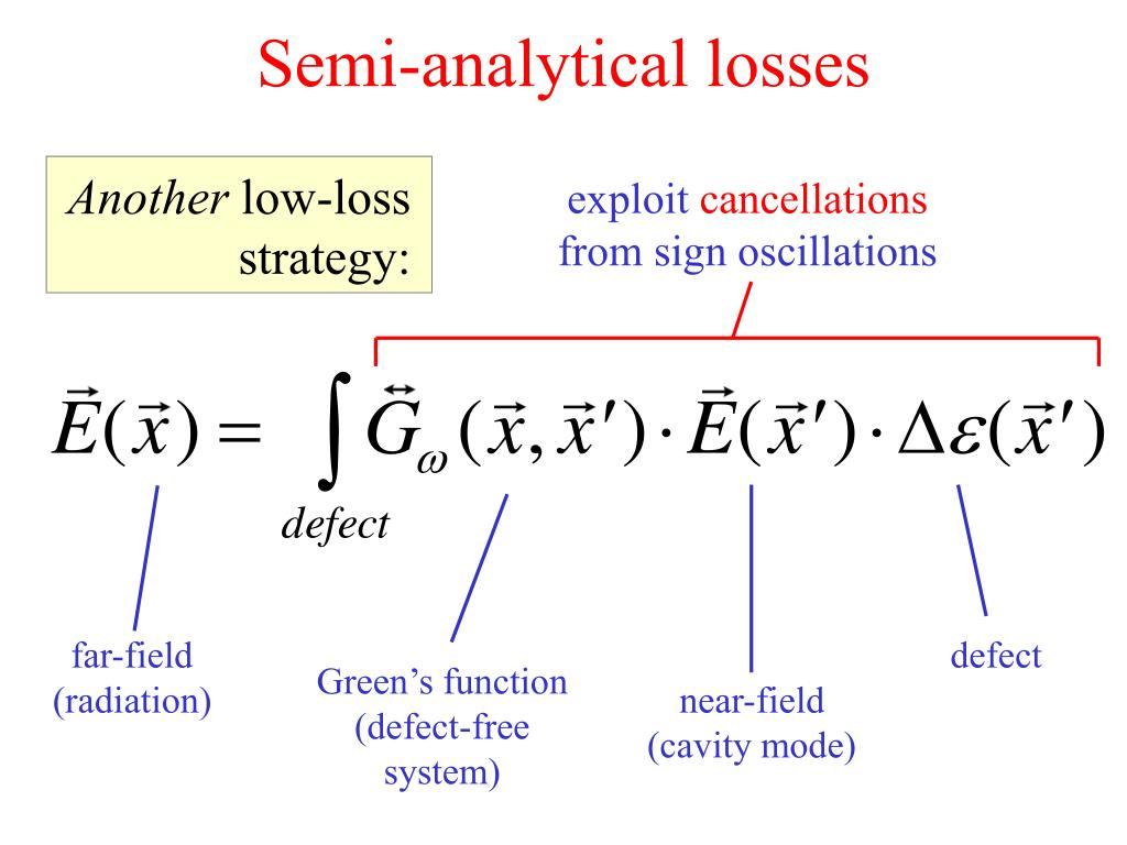 Semi-analytical losses