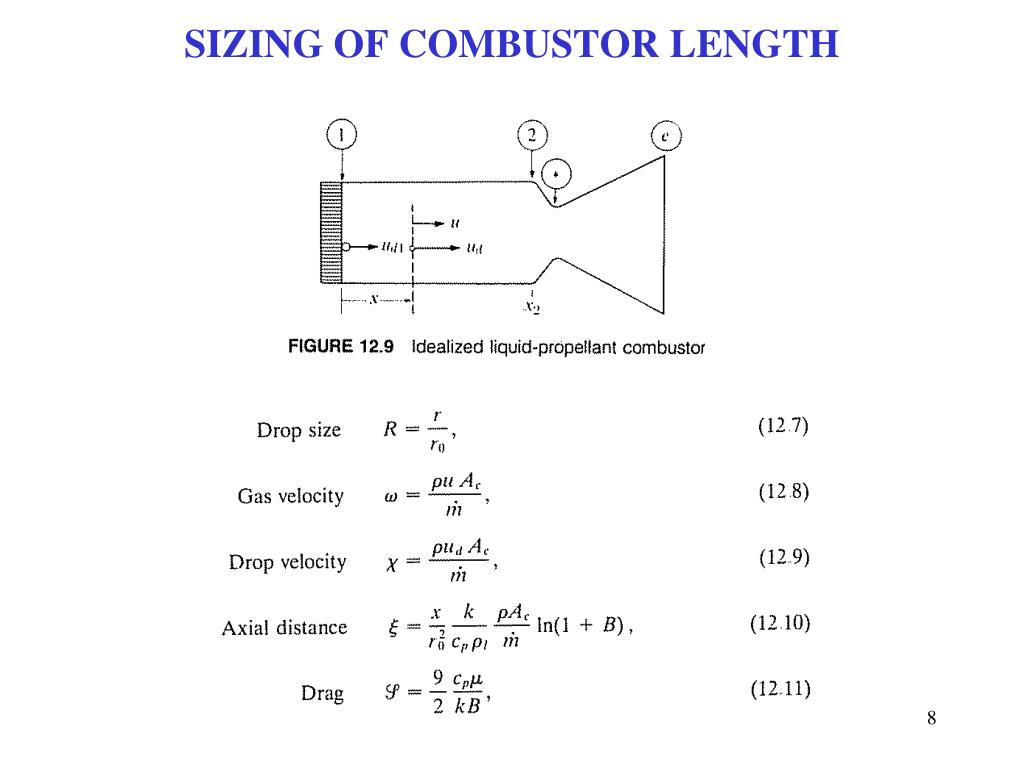SIZING OF COMBUSTOR LENGTH