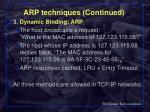 arp techniques continued61