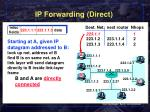ip forwarding direct