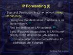 ip forwarding i