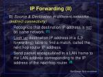 ip forwarding ii