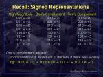 recall signed representations