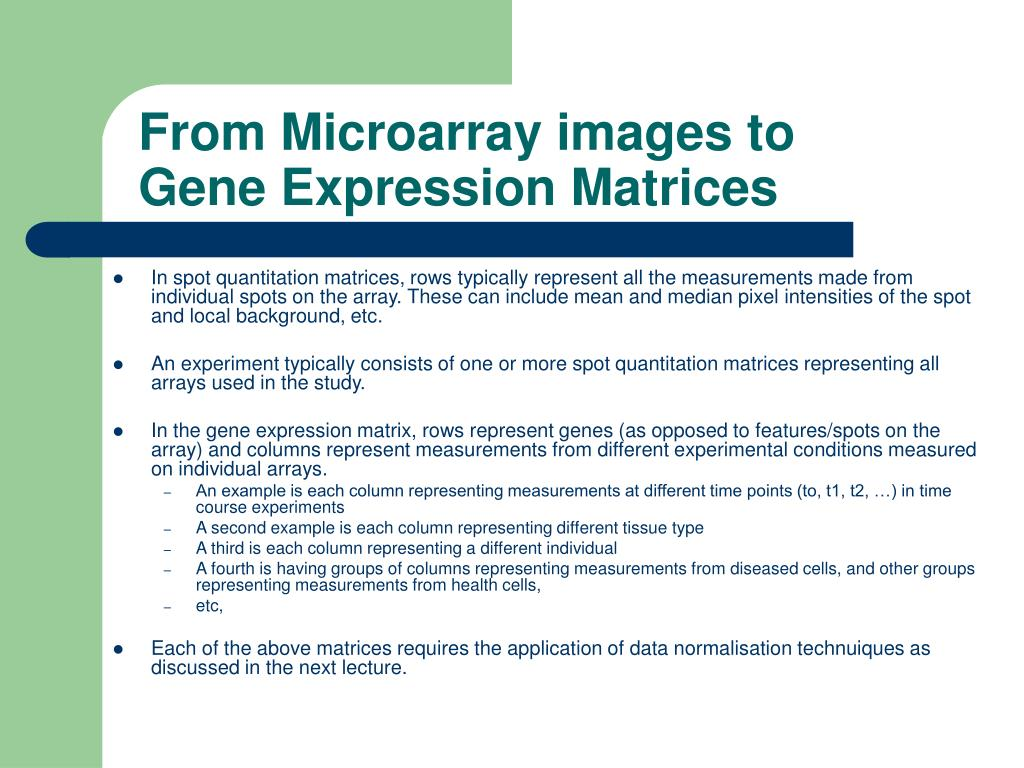 From Microarray images to