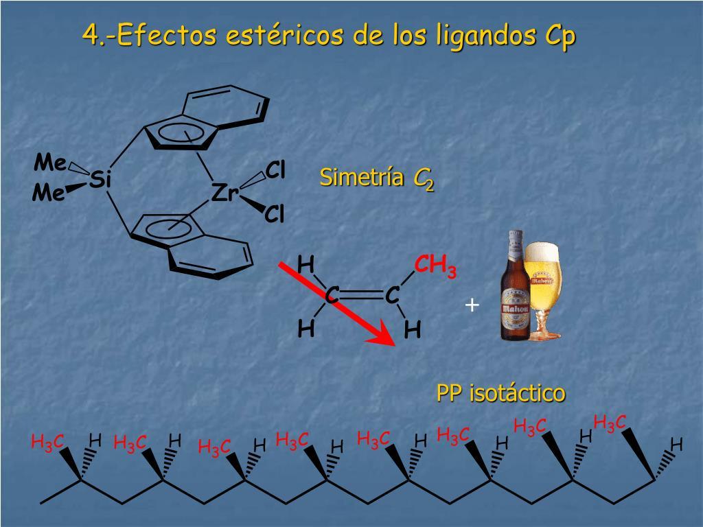 4.-Efectos estéricos de los ligandos Cp