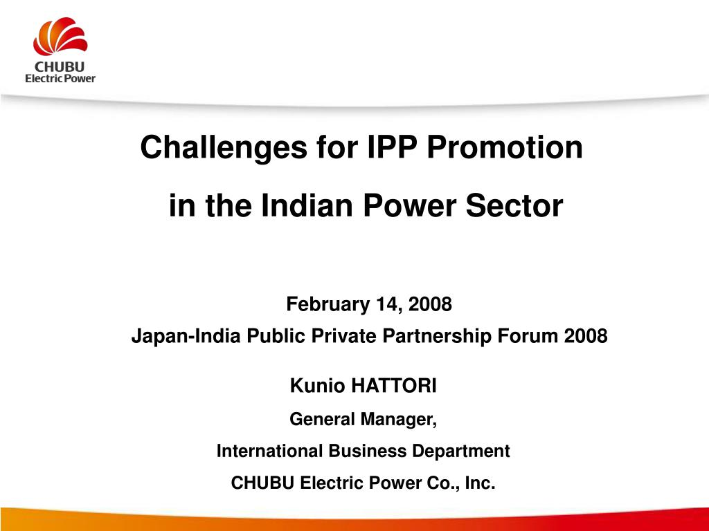 PPT - Challenges for IPP Promotion in the Indian Power