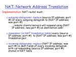nat network address translation36