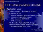 osi reference model cont d