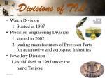 divisions of til