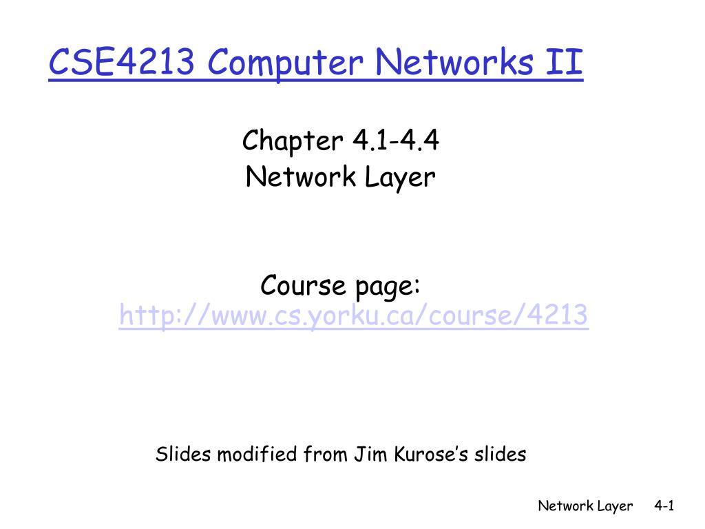 cse4213 computer networks ii l.