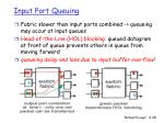 input port queuing