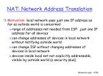 nat network address translation50