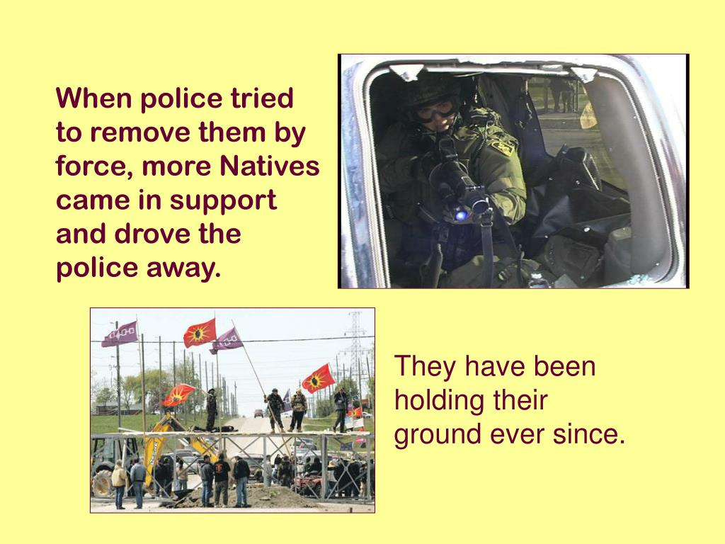 When police tried to remove them