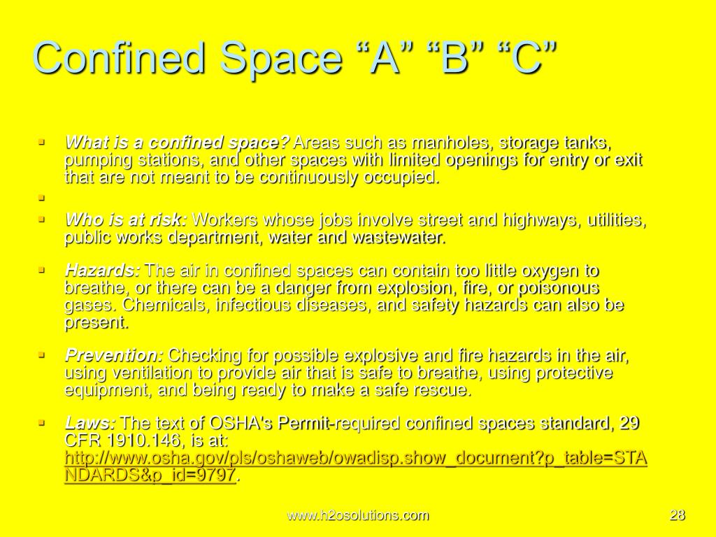 """Confined Space """"A"""" """"B"""" """"C"""""""
