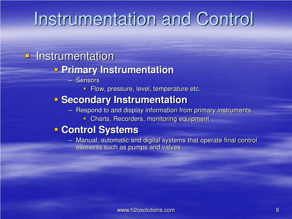Instrumentation and Control
