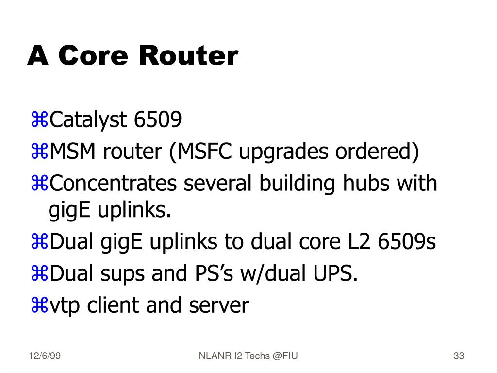 A Core Router