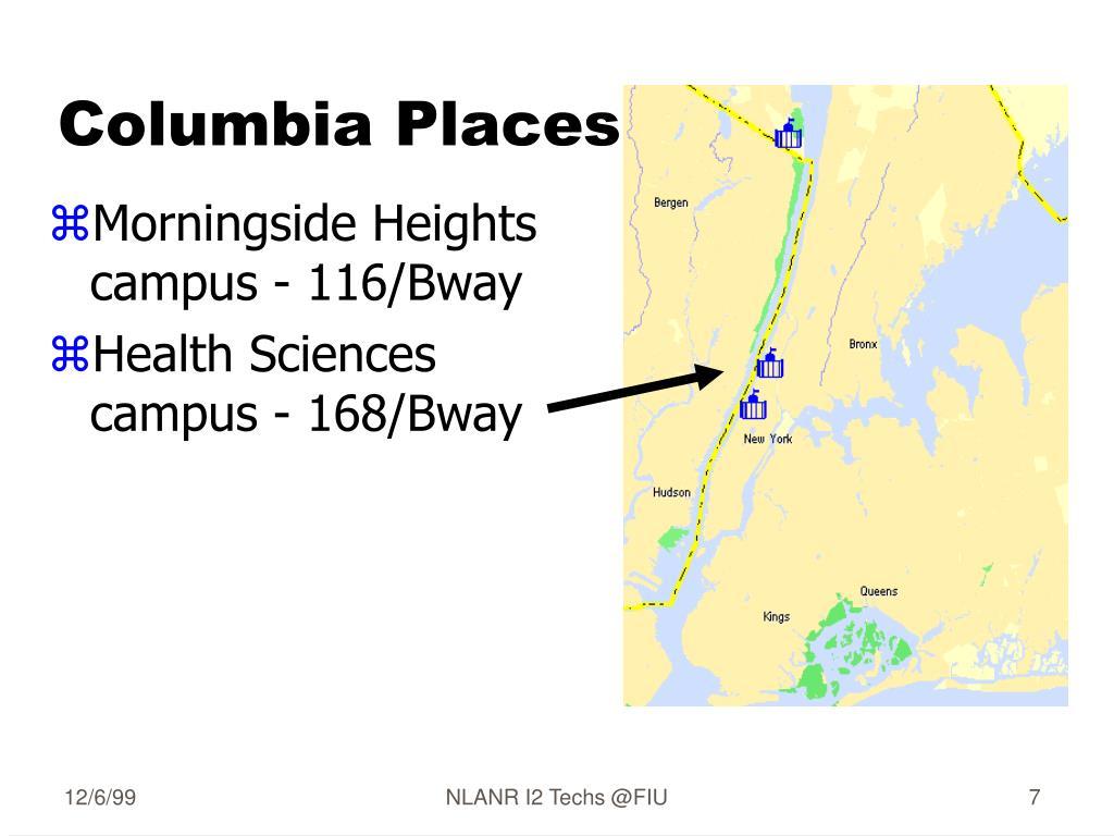 Columbia Places