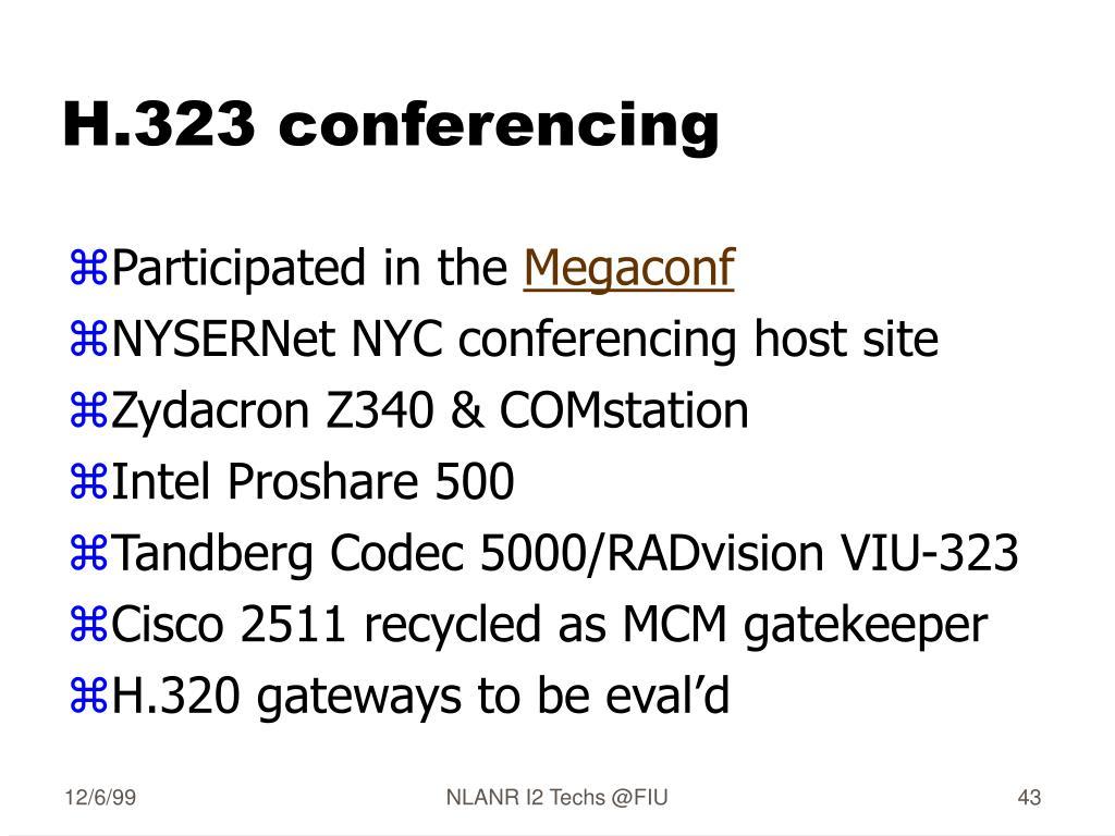 H.323 conferencing