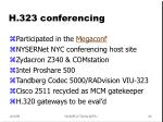 h 323 conferencing