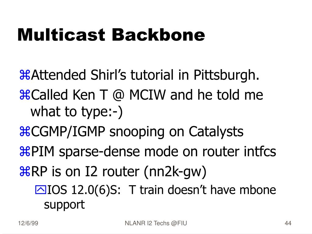 Multicast Backbone
