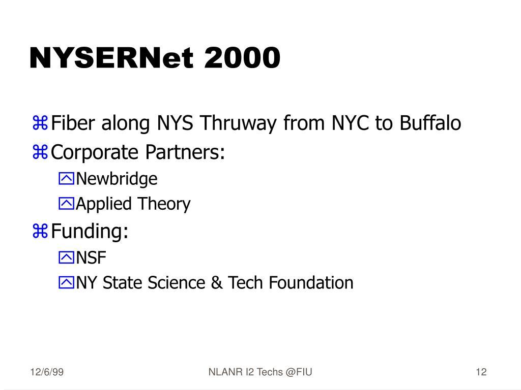NYSERNet 2000