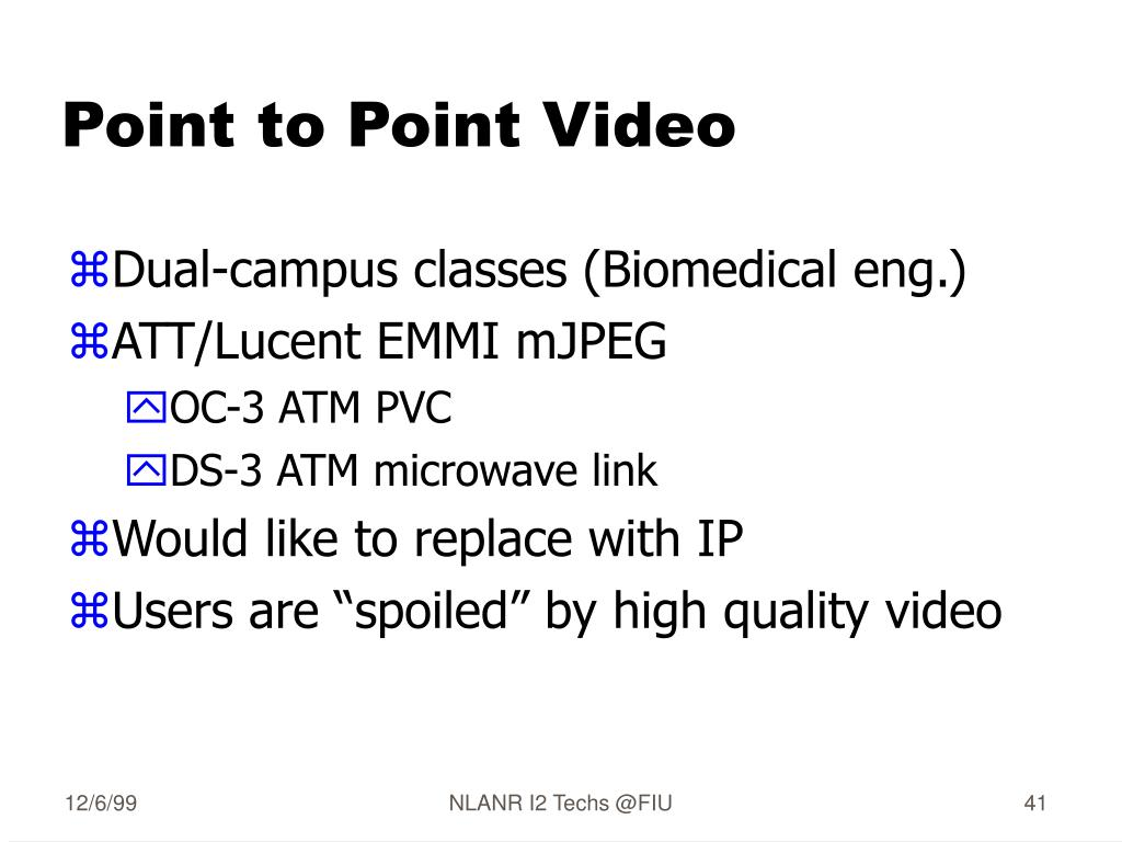 Point to Point Video