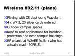 wireless 802 11 plans