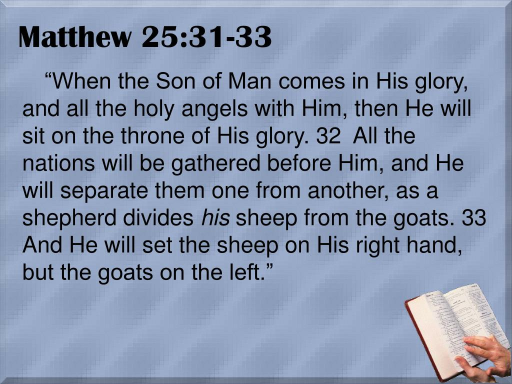 Matthew 25:31-33