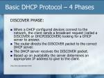 basic dhcp protocol 4 phases