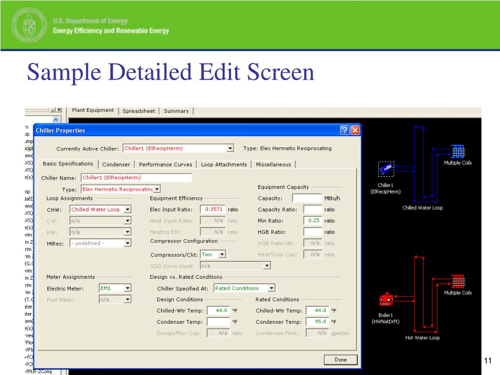 Sample Detailed Edit Screen