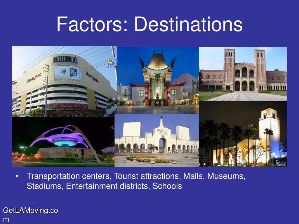 Factors: Destinations